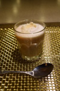 Yes. That's an ice cream float made with the Oolong Ice Cream tea.