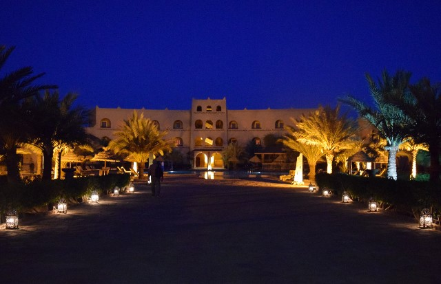 Night view of our hotel.