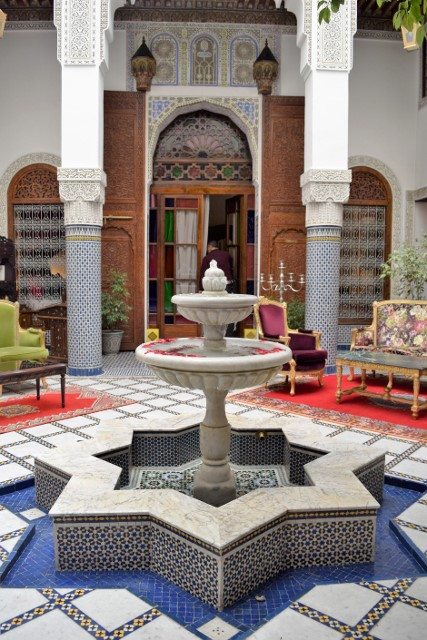 Water features in riads are always welcome.