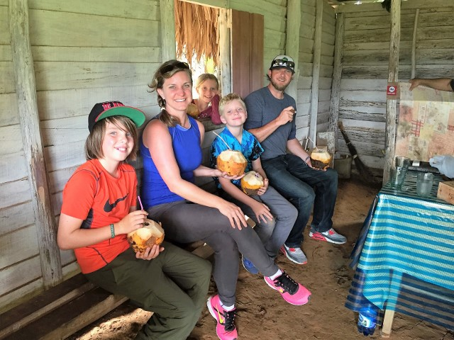 The autho and her family in Viñales.