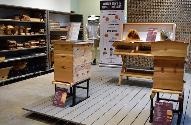 On display are also BeeThinking's beehives and other good for aviaries.