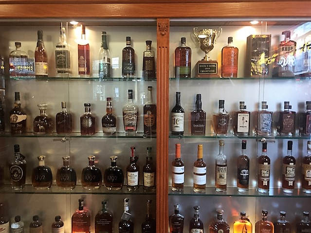 Bourbon cabinet at the Bourbon house