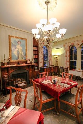 The Parlor serves as the Inn's dining room.