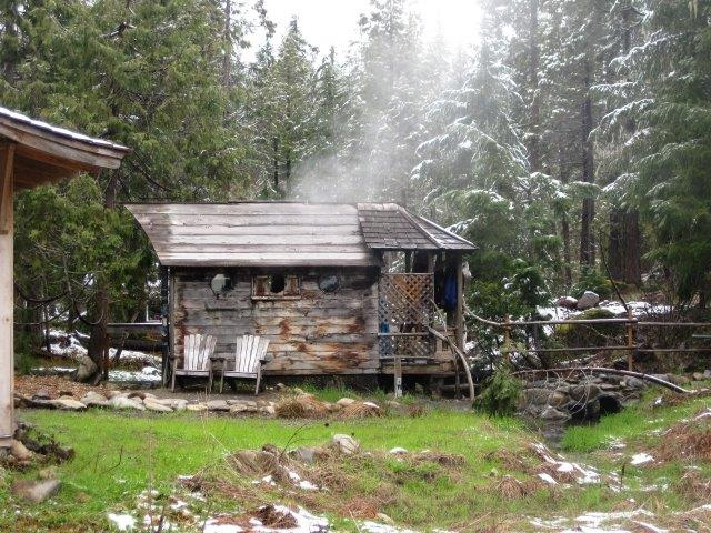 Breitenbush Hot springs sauna