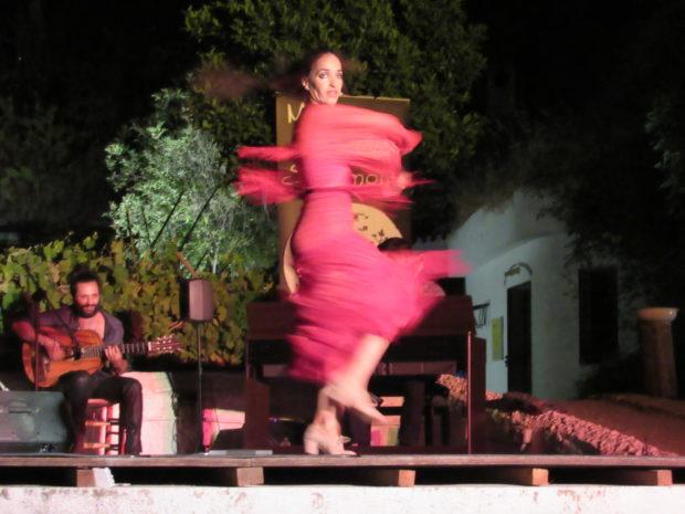 flamenco experience in grenada Carolina Morales Pinilla in Romance de Agua y Piedra at the Museo de las Cuevas