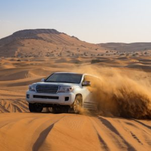 thrilling activities in Dubai Dune Bashing Shutterstock