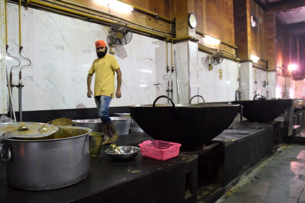 Sikh langar, photo by Nancy Zaffaro