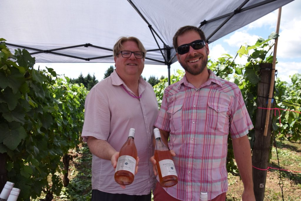 Monte Pitt and Derek Einberger of Patton Valley Vineyard at Drink Pink Rose Festival