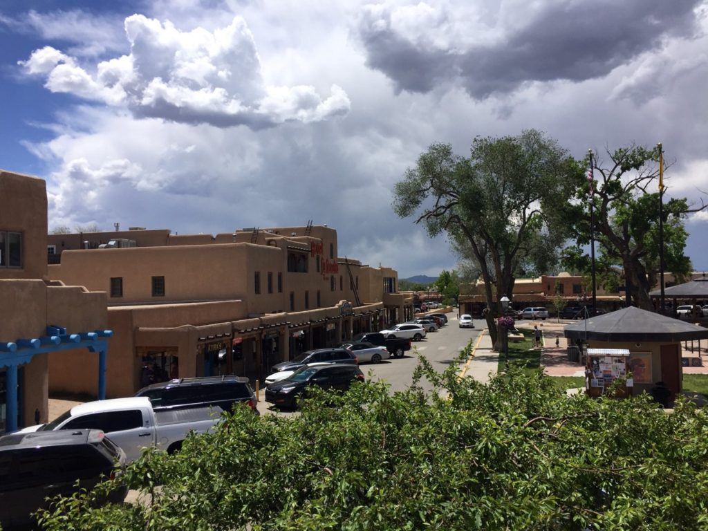 Ghost of Taos Tour along the Plaza in Taos