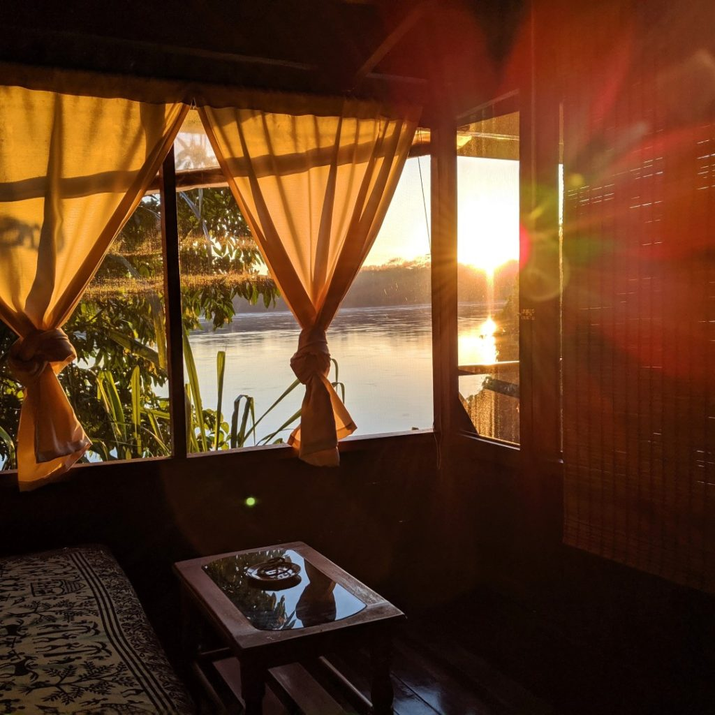 amazon eco-lodge sunrise in room