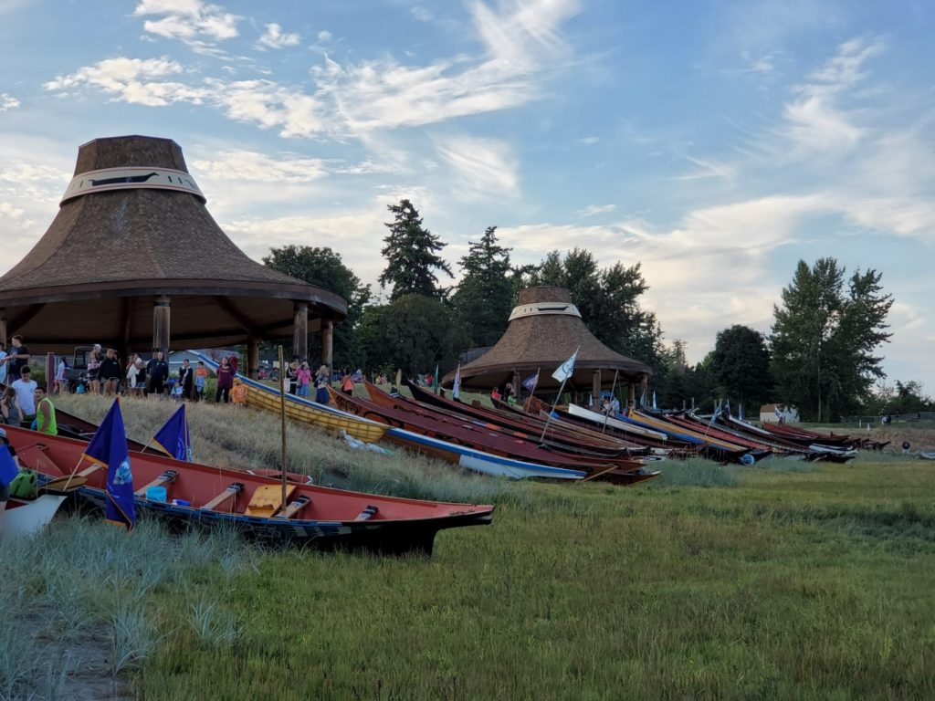 canoe journey from Swinomish to Lummi