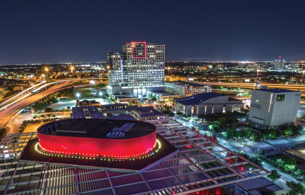The Dallas Arts District at night (Photo courtesy Visit Dallas) museums in Dallas