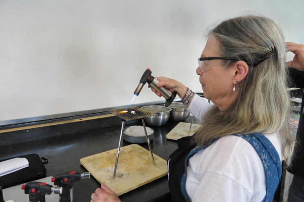 Hot Shop silversmithing class, photo Tammy Powell