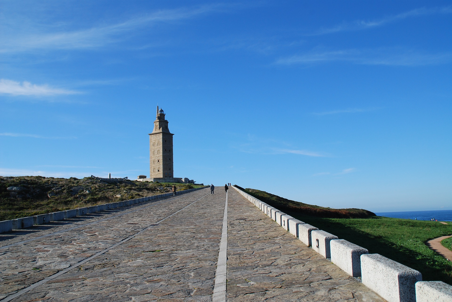places to visit in Spain the Tower of Hercules, a UNESCO World Heritage site