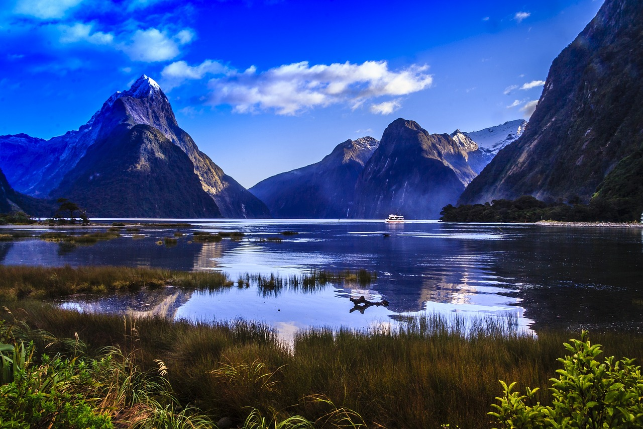 New Zealand attractions Mitre Peak Milford Sound