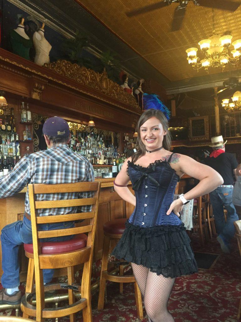 Saloon girl Diamond Belle Saloon, Durango's only true old West Saloon