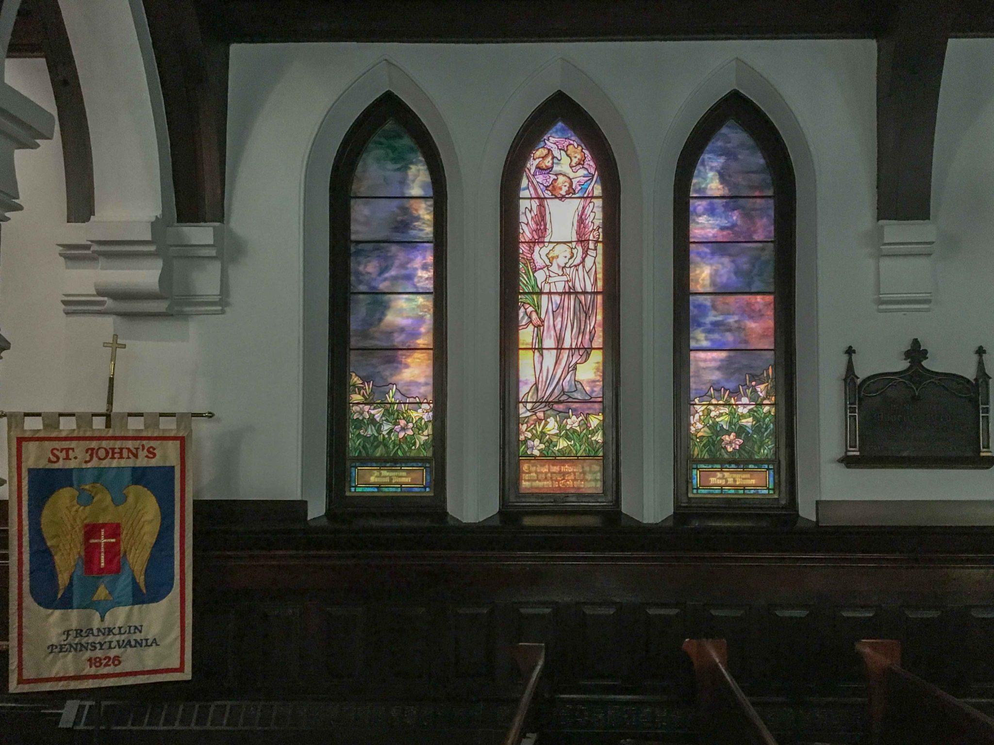 Tiffany window in Franklin Pennsylvania