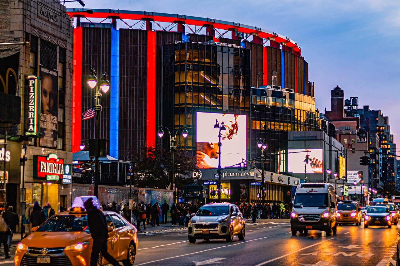 Madison Square Garden near New York's Penn Station
