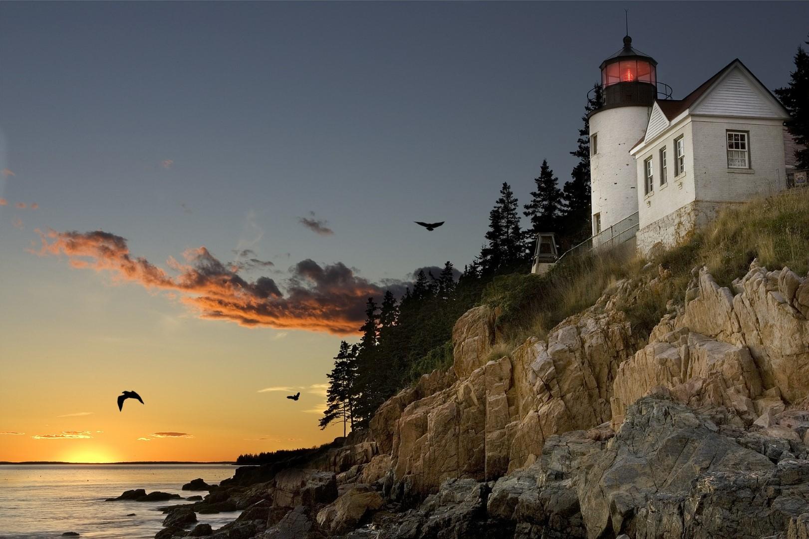 lighthouse in Bar Harbor, Maine