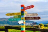 visiting ecuador destination sign
