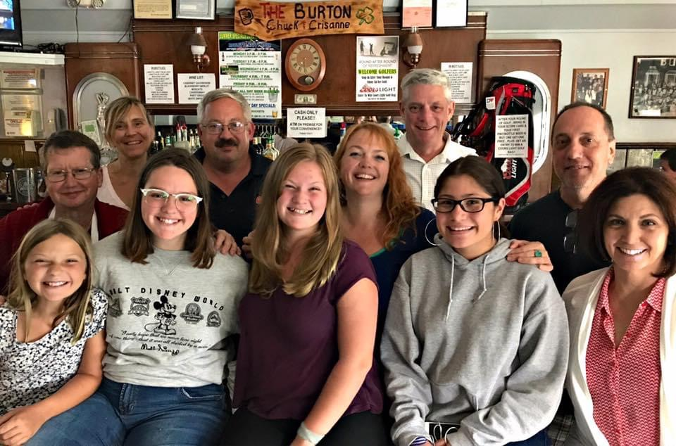 The Burton family photo